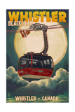 Gondola and Full Moon - Whistler, Canada Posters by  Lantern Press