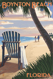 Boynton Beach, Florida - Adirondack Chair on the Beach Posters by  Lantern Press
