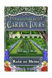 Williamsburg, Virginia - Garden Tours Vintage Sign Posters by  Lantern Press