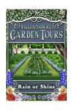 Williamsburg, Virginia - Garden Tours Vintage Sign Posters