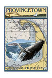 Provincetown, Massachusetts - Nautical Chart Prints by  Lantern Press