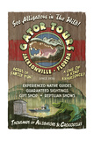 Jacksonville, Florida - Alligator Tours Vintage Sign Art by  Lantern Press