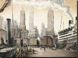 Departure, New York Stretched Canvas Print by Matthew Daniels