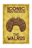Iconic Mustaches - Walrus Posters by  Lantern Press