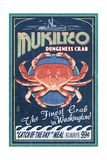 Mukilteo, Washington - Dungeness Crab Vintage Sign Prints by  Lantern Press