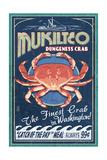 Mukilteo, Washington - Dungeness Crab Vintage Sign Prints by  Lantern Press