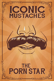 Iconic Mustaches - Porn Star Prints by  Lantern Press