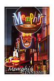 Memphis, Tennessee - Beale Street Poster by  Lantern Press