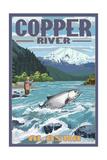 Copper River, Alaska - Fisherman Poster by  Lantern Press