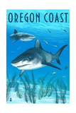 Tiger Shark - Oregon Coast Prints by  Lantern Press