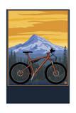 Mountain Bike Scene Poster van  Lantern Press