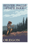 Silver Falls State Park, Oregon - Hiking Scene Prints by  Lantern Press