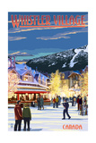 Village Scene - Whistler, Canada Prints by  Lantern Press