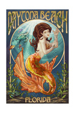 Daytona Beach, Florida - Mermaid Posters