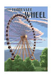 Tennessee - the Great Wheel Prints by  Lantern Press