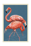 Flamingo Prints by  Lantern Press
