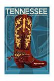 Lantern Press - Tennessee - Boot - Art Print