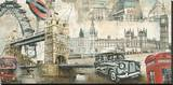 London Stretched Canvas Print by Tyler Burke