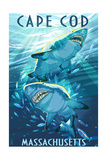 Cape Cod, Massachusetts - Tiger Shark Posters by  Lantern Press