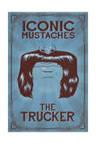 Iconic Mustaches - Trucker Poster by  Lantern Press