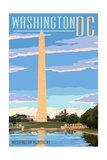 Washington, DC - Washington Monument Poster by  Lantern Press
