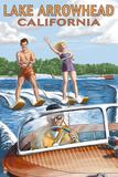 Lake Arrowhead - California - Waterskiers Affischer av  Lantern Press