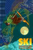 Ski Time Lapse - Whistler, Canada Prints