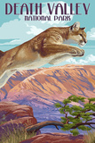 Cougar Scene - Death Valley National Park Poster by  Lantern Press