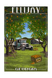 Ellijay, Georgia - Orange Grove with Truck Posters by  Lantern Press
