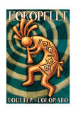 Boulder, Colorado - Kokopelli Prints by  Lantern Press