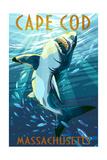 Cape Cod, Massachusetts - Great White Shark Prints