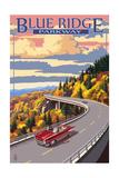 Lantern Press - Linn Cove Viaduct - Blue Ridge Parkway Plakát