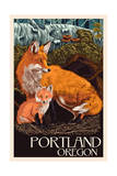Portland, Oregon - Fox and Kit Posters