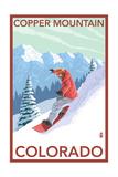 Copper Mountain, Colorado - Downhill Snowboarder Prints