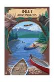 Inlet, New York - Adirondacks Canoe Scene Print