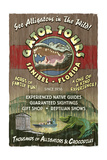 Sanibel, Florida - Alligator Tours Vintage Sign Prints by  Lantern Press