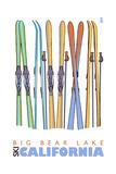 Big Bear Lake - California - Skis in Snow Posters by  Lantern Press