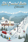 Crested Butte, Colorado - Retro Ski Resort Posters by  Lantern Press