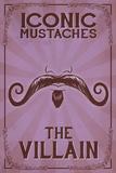 Iconic Mustaches - Villian Prints by  Lantern Press