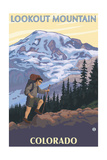 Lookout Mountain, Colorado - Mountain Hiker Prints by  Lantern Press