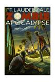 Ft. Lauderdale, Florida - Zombie Apocalypse Posters