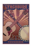 Lynchburg, Tennessee - Guitar and Banjo Music Prints by  Lantern Press