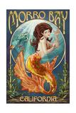 Morro Bay, CA - Mermaid Posters