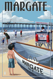 Margate, New Jersey - Lifeguard Stand Print by  Lantern Press