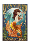 Long Beach Island, New Jersey - Mermaid Poster by  Lantern Press