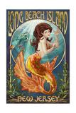 Long Beach Island, New Jersey - Mermaid Poster