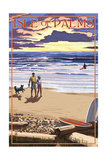 Isle of Palms, South Carolina - Sunset Beach Scene Prints by  Lantern Press