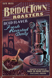 Coffee Roasters Vintage Sign - Portland, Oregon Posters by  Lantern Press