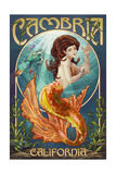 Cambria, California - Mermaid Prints by  Lantern Press