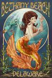 Bethany Beach, Delaware - Mermaid Posters